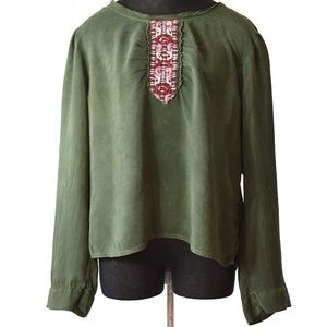 Johnny Was Tunic Top Embroidered Size XL